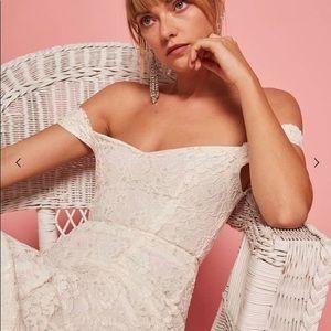 Reformaron Freesia wedding dress white lace 4P